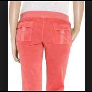 Juicy couture terri cloth coral peach Capris
